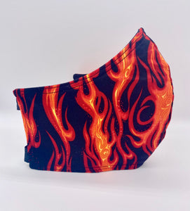 Flames: Contoured Adult Face Masks (One Size Fits Most; Ages 11+)