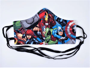 Licensed Print - Marvel: Contoured Adult Face Masks (One Size Fits Most; Ages 11+)