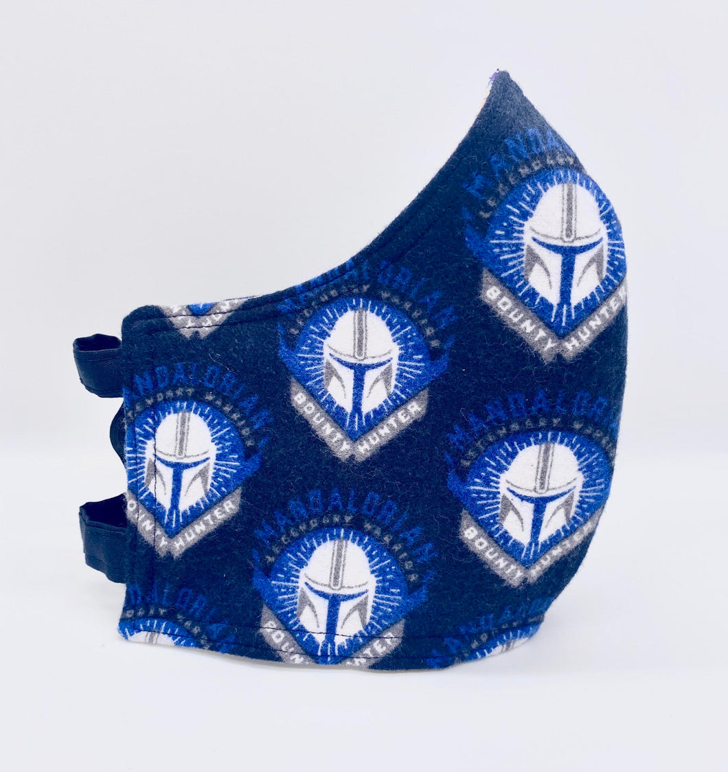 Licensed Print - Mandalorian Flannel: Contoured Adult Face Masks (One Size Fits Most; Ages 11+)