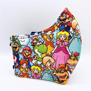 Mario Party: Contoured Adult Face Masks (One Size Fits Most; Ages 11+)