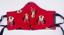 Load image into Gallery viewer, Licensed Print - Minnie Mouse: Contoured Adult Face Masks (One Size Fits Most; Ages 11+)