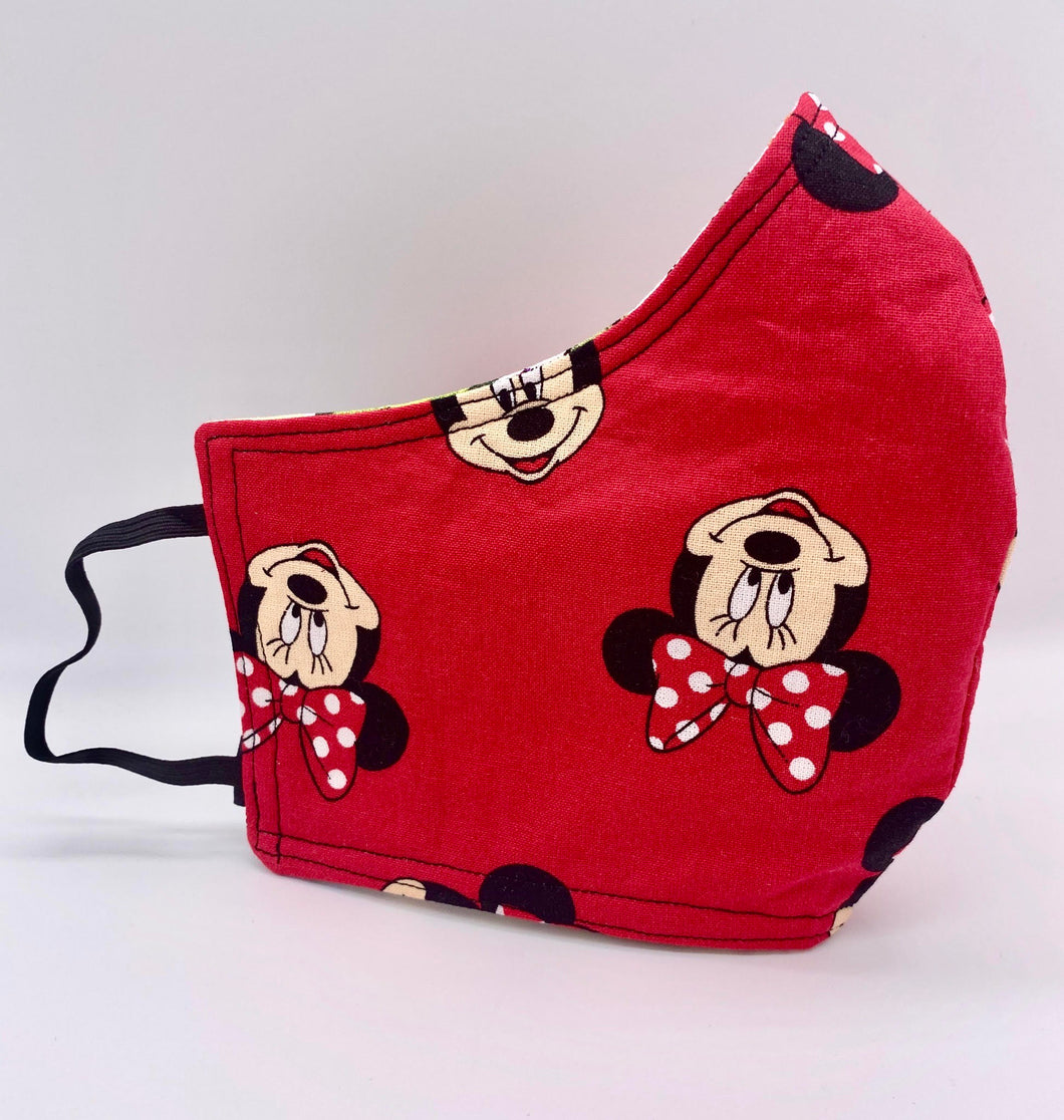 Licensed Print - Minnie Mouse: Contoured Adult Face Masks (One Size Fits Most; Ages 11+)