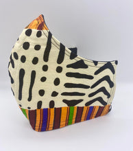 Load image into Gallery viewer, Multicolored African Print: Contoured Adult Face Masks (One Size Fits Most; Ages 11+)
