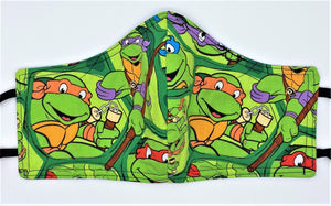 Classic Teenage Mutant Ninja Turtles: Contoured Adult Face Masks (One Size Fits Most; Ages 11+)