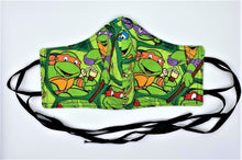 Load image into Gallery viewer, Classic Teenage Mutant Ninja Turtles: Contoured Adult Face Masks (One Size Fits Most; Ages 11+)