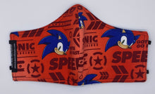 Load image into Gallery viewer, LIMITED EDITION - Sonic the Hedgehog (Red): Contoured Adult Face Masks (One Size Fits Most; Ages 11+)
