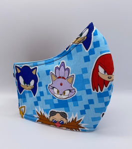 LIMITED EDITION - Sonic and Friends: Contoured Adult Face Masks (One Size Fits Most; Ages 11+)