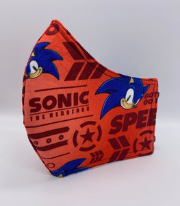 LIMITED EDITION - Sonic the Hedgehog (Red): Contoured Adult Face Masks (One Size Fits Most; Ages 11+)