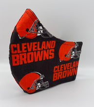 Load image into Gallery viewer, Cleveland Browns: Contoured Adult Face Masks (One Size Fits Most; Ages 11+)