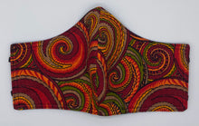 Load image into Gallery viewer, Retro Swirls: Contoured Adult Face Masks (One Size Fits Most; Ages 11+)