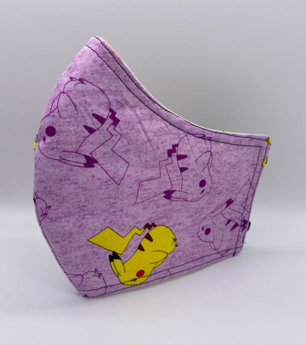 Purple Pikachu: Contoured Adult Face Masks (One Size Fits Most; Ages 11+)