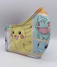 Load image into Gallery viewer, Pokemon Starter Pack: Contoured Adult Face Masks (One Size Fits Most; Ages 11+)