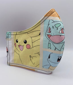 Pokemon Starter Pack: Contoured Adult Face Masks (One Size Fits Most; Ages 11+)
