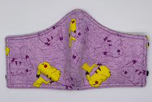Load image into Gallery viewer, Purple Pikachu: Contoured Adult Face Masks (One Size Fits Most; Ages 11+)