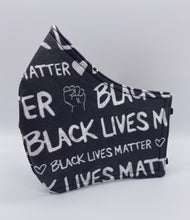 Load image into Gallery viewer, LIMITED EDITION - Black Lives Matter: Contoured Adult Face Masks (One Size Fits Most; Ages 11+)