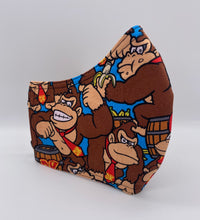 Load image into Gallery viewer, LIMITED EDITION - Donkey Kong:  Contoured Adult Face Masks (One Size Fits Most; Ages 11+)