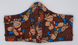 LIMITED EDITION - Donkey Kong:  Contoured Adult Face Masks (One Size Fits Most; Ages 11+)