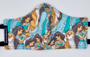 Licensed Print - Disney's Princess Jasmine: Contoured Adult Face Masks (One Size Fits Most; Ages 11+)