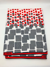 Load image into Gallery viewer, Head Wrap: Red, Black, and White