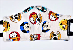 "Licensed Prints - Disney ""Say Cheese"": Contoured Adult Face Masks (One Size Fits Most; Ages 11+)"