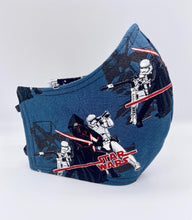 Load image into Gallery viewer, Licensed Print - Navy Blue Star Wars: Contoured Adult Face Masks (One Size Fits Most; Ages 11+)