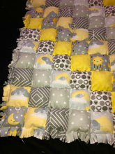 Load image into Gallery viewer, Sun, Moon, and Stars Biscuit Rag Quilt