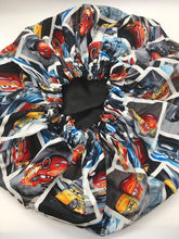 Load image into Gallery viewer, Kids Satin-Lined Bonnet: Cars