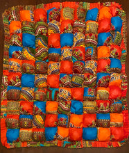Load image into Gallery viewer, African Print Biscuit Quilt