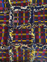 Load image into Gallery viewer, Navy Blue African Rag Quilt