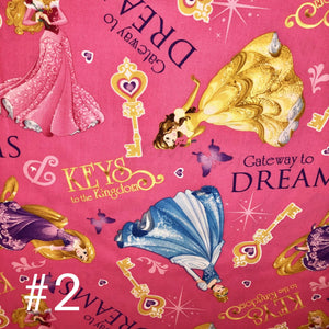 Licensed Prints - Disney Princesses (3 Patterns): Rectangle Kids Face Masks (One Size Fits Most; Ages 10 and under)