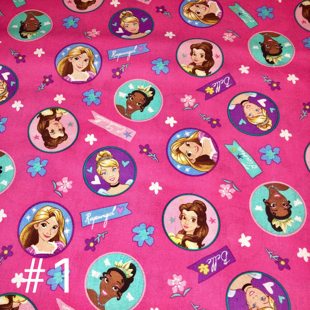 Licensed Prints - Disney Princesses (3 Patterns): Contoured Adult Face Masks (One Size Fits Most; Ages 11+)