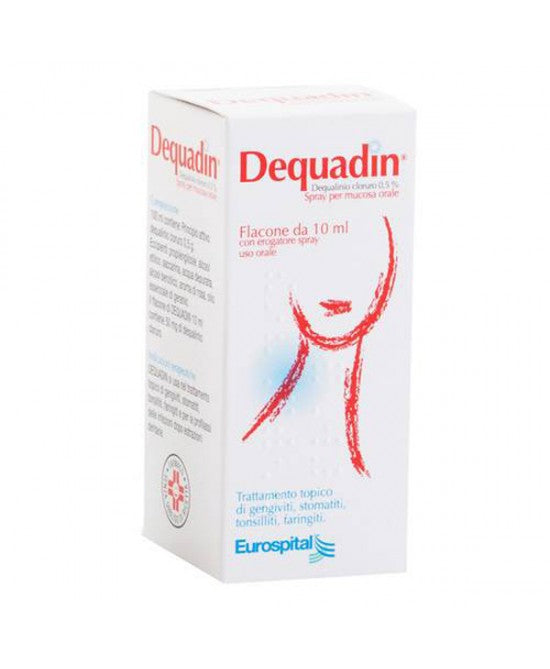 DEQUADIN*spray mucosa orale 10 ml 0,5%