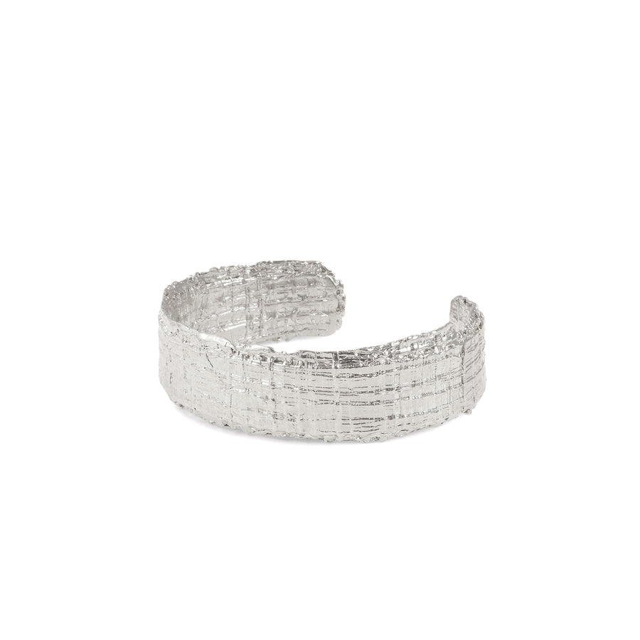 bracelet tweed homme rhodium