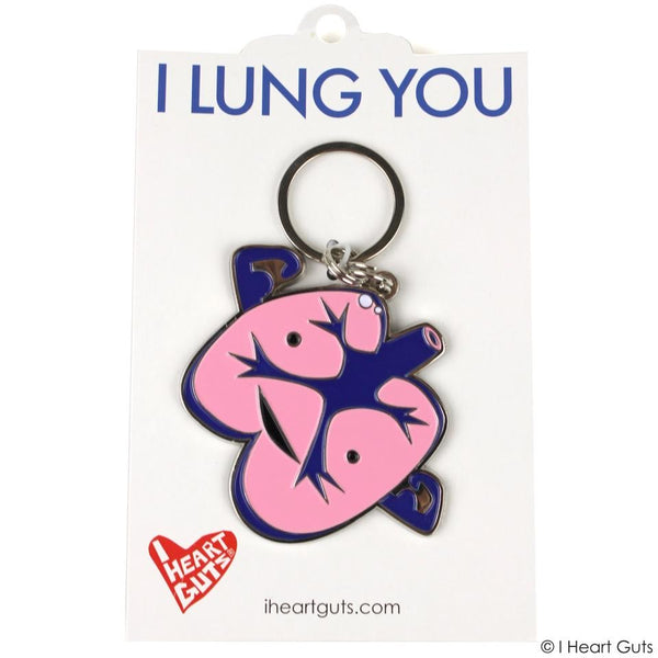 I Heart Guts Lung Keychain