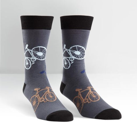 Bicycle Crew Length Socks - Men's Size