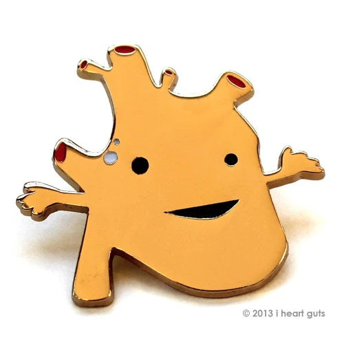 "I Heart Guts ""Heart of Gold"" Pin"