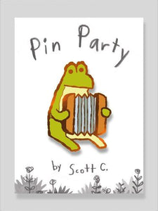 Accordion Frog Pin by Scott C.