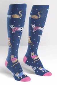 Business Cat-ual Knee High Socks