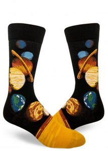 Solar System Crew Length Socks - Men's Size