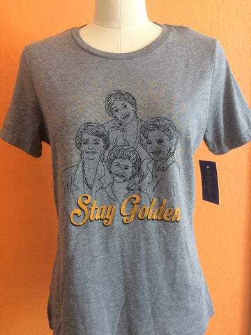 Stay Golden Scoop Neck Tee - medium