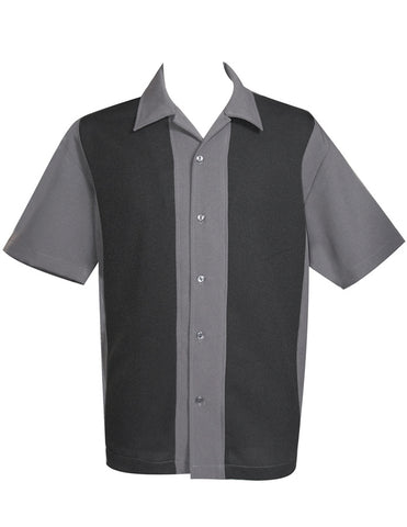 Wide Panel Shirt - Charcoal/Black