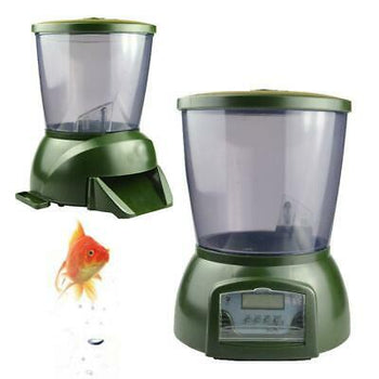 Automatic Pond Fish Feeder Digital Tank Pond Fish Food Timer 4.25L