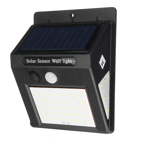 Solar Power LED Lights Sensor for Garden Wall and Outdoor Security