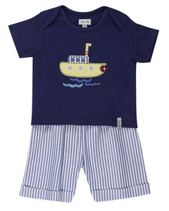 Lilly and Sid Baby Boy t-shirt and shorts set.
