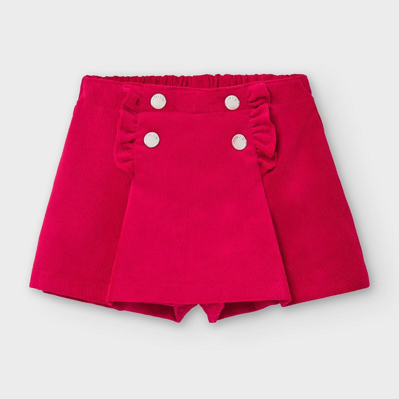 Mayoral Girls button front detail skort, 2942 022