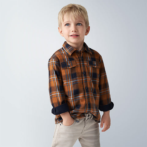 Mayoral Boys checked shirt - 4138 032