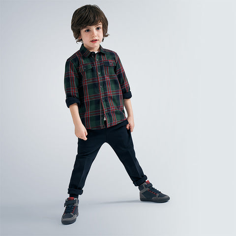 Mayoral Boys checked shirt - 4138 033