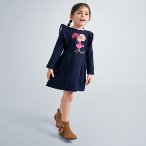 Mayoral Girls long sleeve embroidered dress - 4982 036