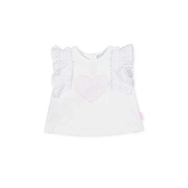 Tutto Piccolo Girls white t-shirt - 1710S21