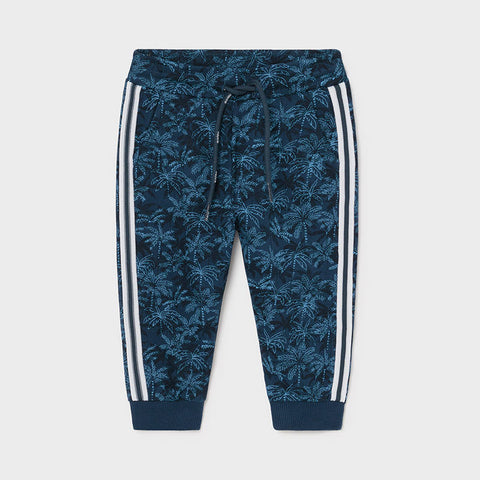 Mayoral Baby Boys print joggers with side stripe - 1588